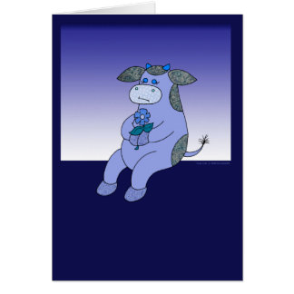 """Holly Cow """"Blue Without You"""" Greeting Card"""