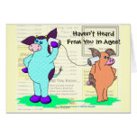 "Holly Cow  ""Call Me!"" Greeting Card"