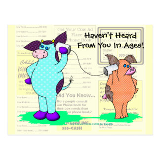 """Holly Cow, """"Call Me!"""" Post Card"""