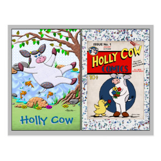 Holly Cow Collectible Trading Cards #1 and #2