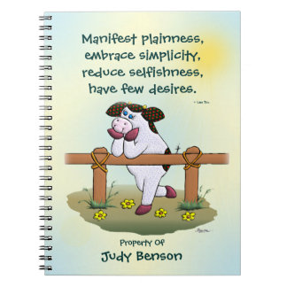 "Holly Cow ""Embrace Simplicity"" Notebook"