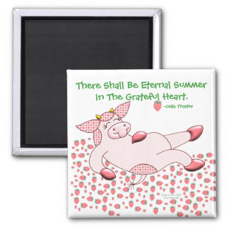 "Holly Cow, ""Grateful For Summer"" Magnet"
