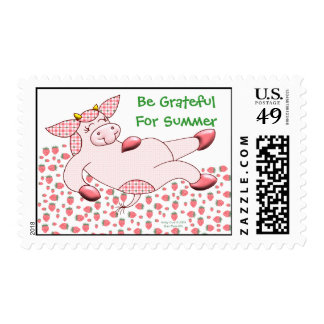 """Holly Cow """"Grateful For Summer"""" Stamp"""