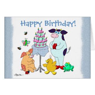 "Holly Cow ""Happy Birthday!"" Card"