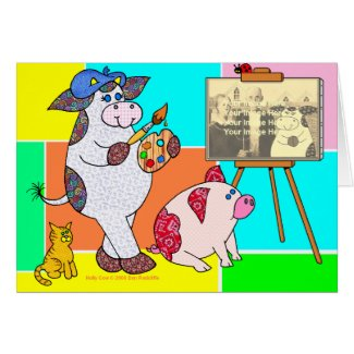 """Holly Cow, """"I Don't Know Much About Art..."""" Greeting Card"""