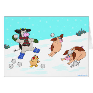 Holly Cow, Let It Snow! Greeting Card