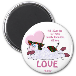 """Holly Cow """"Lovely Thoughts"""" Refrigerator Magnets"""