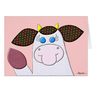Holly Cow (No Verse Inside) Greeting Card