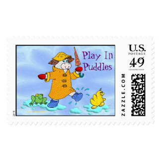 """Holly Cow, """"Play In Puddles"""" Stamps"""
