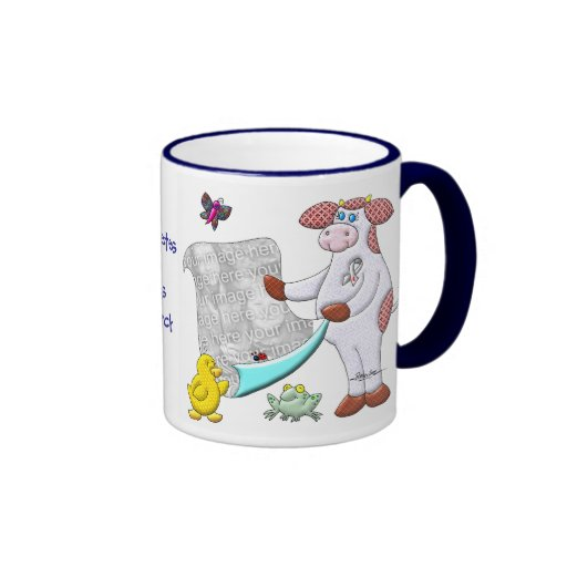 Holly Cow Supports Diabetes Research Ringer Coffee Mug