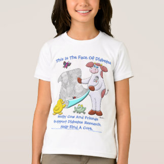 Holly Cow Supports Diabetes Research T-Shirt