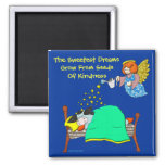 "Holly Cow, ""Sweet Dreams"" 2 Inch Square Magnet"