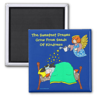 """Holly Cow, """"Sweet Dreams"""" 2 Inch Square Magnet"""