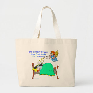 """Holly Cow, """"The Sweetest Dreams"""" Large Tote Bag"""