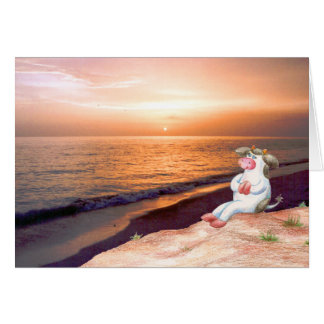 Holly Cow Watching The Sunset (No Verse inside) Cards