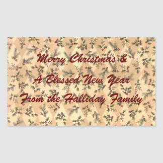 Holly Custom Wine Champagne Cider Gift Label