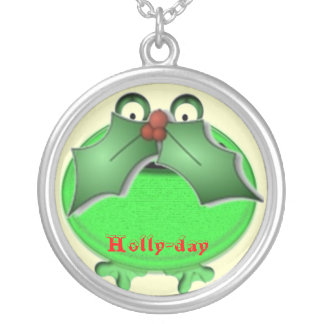 Holly-day Mustache Pendant