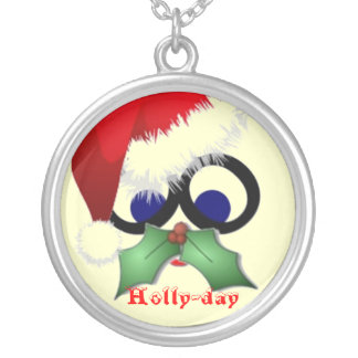 Holly-day Mustache Necklaces