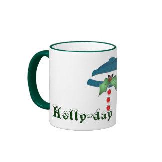 Holly-day Mustache Ringer Mug