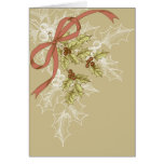 Holly-Day Sketch Holly Berries and Leaves Stationery Note Card