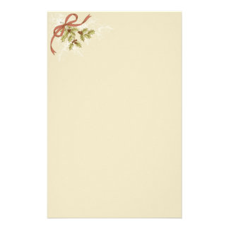 Holly-Day Sketch Holly Berries and Leaves Stationery Paper