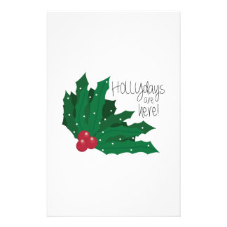 Holly days Are Here! Customized Stationery