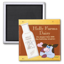 Holly Farms Dairy Magnet