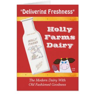 Holly Farms Dairy (No Verse) Greeting Cards