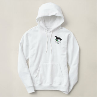 Holly Flat Coated Retriever Embroidered Embroidered Hoodie