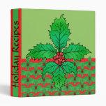 Holly Fleur de lis Vinyl Binders