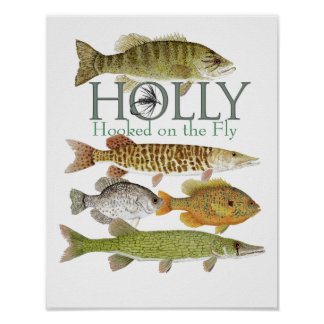 Holly Flies Poster  featuring Freshwater Fish