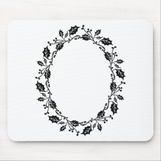 Holly Frame Mouse Pad