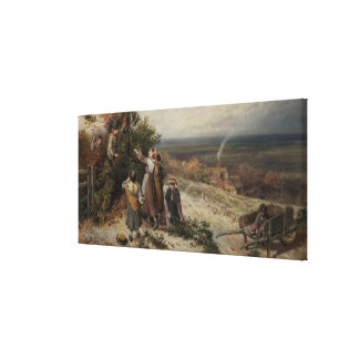 Holly Gatherers (w/c and bodycolour) Canvas Print