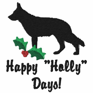 Holly German Shepherd Embroidered Shirt (Polo)