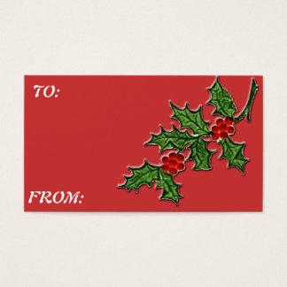 HOLLY  Gift Tag