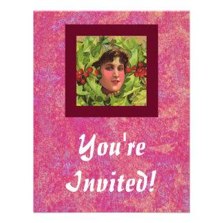 Holly Girl invitation