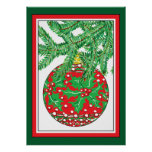 Holly Glass Ball Ornament on Christmas Tree Posters