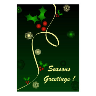 Holly green - Gift tag card Large Business Card