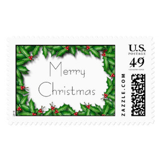 Holly Greetings stamp