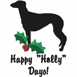Holly Greyhound Embroidered Hooded Sweatshirts