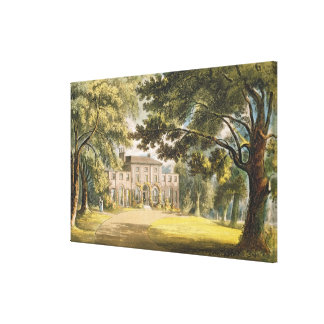 Holly Grove House, from Ackermann's 'Repository of Canvas Print