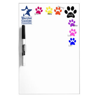 Holly Half Dozen paw print dry erase Dry Erase Board