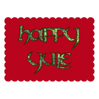 Holly Happy Yule Invitation to a Wiccan Event