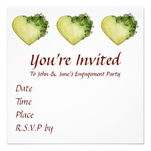 Holly Heart Invitation
