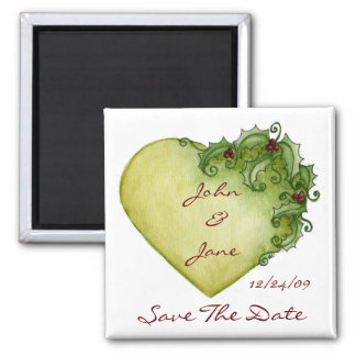 Holly Heart - Save The Date Magnet