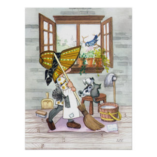 Holly Hobby Cleaning - Poster