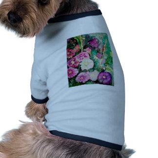 Holly Hock Art watercolor Dog Tee