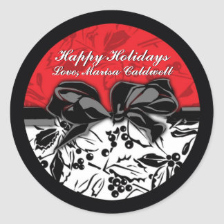 Holly Holiday Gift Label Stickers