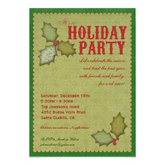 Holly Holiday Party Invitation