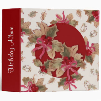 Holly Holiday Photo Album Binder